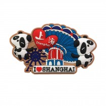 Set of 3 Chinese Characteristics Refrigerator Magnet, Shanghai Happy Valley
