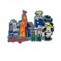 Set of 3 Chinese Characteristics Refrigerator Magnet, Shanghai Bund