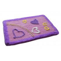 Lovely Non-Slip Doormat Absorbent Bedroom Decor Rug,Purple Love,15.5*23.5""