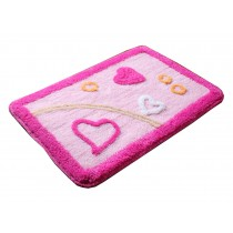 Lovely Non-Slip Doormat Absorbent Bedroom Decor Rug,Pink Love,15.5*23.5""