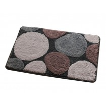 Lovely Non-Slip Doormat Durable Bedroom Decor Gray Stone Rug,15.5*23.5""