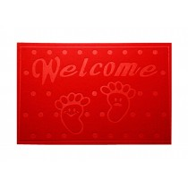 Lovely Non-Slip Welcome Doormat Durable Door Mat RED,15.5*23.5""