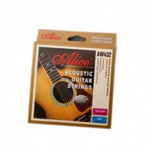 Coated Copper Alloy Wound Acoustic Guitar Strings Set, 6 Strings