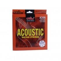 Coated Steel Acoustic Guitar Strings, Full Set