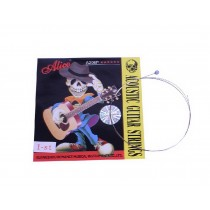 Set of 10 Single Acoustic Guitar Strings, E-1st Stainless Steel Strings, .0.11