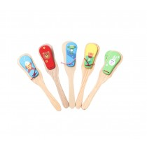 Lovley Wooden Finger Castanet For Baby Early Education, Random Style