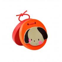 2Pcs Chirldren Toys  Wooden Finger Castanet(Puppy)