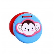 Lovely Monkey,2Pcs Funny Toys Wooden Finger Castanet For Children Education