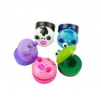 4Pcs Educational Toys Wooden Finger Castanet,Random Stlye