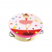 BALLERINA GIRL,Kids Musical Instruments Toy Tambourine Cute Hand Drum