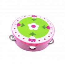 Cute Hand Drum Kids Musical Instruments Toy Tambourine,Tulip