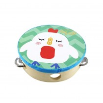 (Chick)Cute Hand Drum Kids Musical Instruments Toy Tambourine