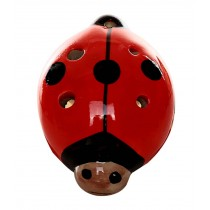 Musical Instrument Ocarina for Child/Beetle Ocarina, 6 Holes/Red