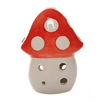 Musical Instrument Ocarina for Child/Mushroom Ocarina, 6 Holes/Red