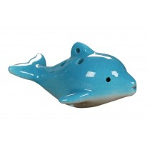 Musical Instrument Ocarina for Child/Dolphin Ocarina, 6 Holes/Blue