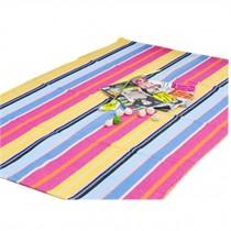 Natural Colourful Striped Chair Mat Chair Carpet for Hard Flooring 23*35 Inches