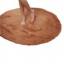 "Nonabrasive Round Chair Mats Coffe Brown Fuzzy Durable Chair Carpet 31*31"""