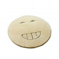 LOL Face Chair Mat Round Fluffy Floor Mat Beige 80CM