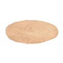 Nonabrasive Round Chair Mats Fuzzy Durable Chair Carpet Diameter 60cm (Camel)
