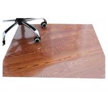 PVC Office Chair Mat Carpet for Hard Flooring Protection [Transparent, 80x100cm]