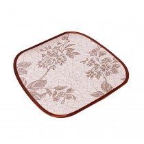Set Of 2 Cany Bamboo Cushion Of The Office/Car Suitable For Summer(Peony)