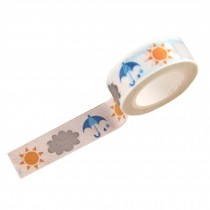 4 PCS DIY Stationery Paper Tapes (Sun and Umbrella Style, 4.5x1.5 cm )