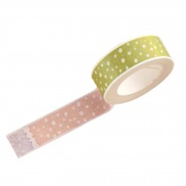 Set of 4 Office Multi-function Paper Tapes Colorful Dot Painting Style