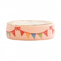 5 PCS Korea Style DIY Stationery Colorful Flags Pattern Satin Tapes 5x1.5cm