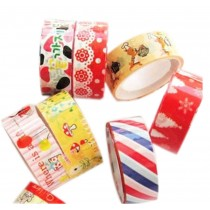 10 Rolls Lovely Decorative Tape Scrapbooking Paper Sticker, Random Patterns
