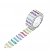 Set of 3 Rolls Color Stripe Lovely Decorative Tape Scrapbooking Paper Sticker
