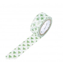 Set of 3 Rolls Green Triangle Lovely Decorative Tape Scrapbooking Paper Sticker