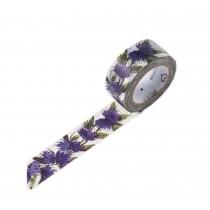 Set of 3 Rolls Purple Flower Decorative Tape Scrapbooking Paper Sticker