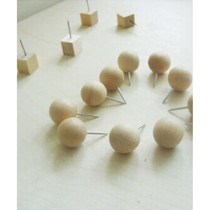 Creative Office/Woodiness Roundness&Square Pushpins/50 Piece/Random Style