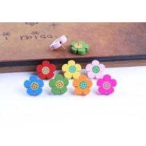 Creative Office Item/Woodiness Colorful Floret Pushpins/50 Piece/Random Color