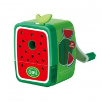 Cute Cartoon Fruits Office Classroom Hand Rotating Pencil Sharpener, Watermelon