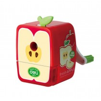 Cute Cartoon Fruits Office Classroom Hand Rotating Pencil Sharpener, Apple