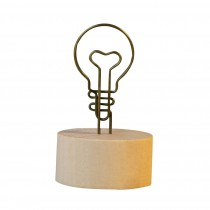 Set of 5 ZAKKA Bulb Memo/Message/Photo Holders Desk Accessories