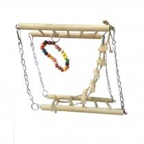 Bird Toys--Natural Handmade Hamster Parrot Toys Suspension Bridge