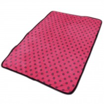 Super Soft Warm Washable Dog Cat Pet Bed Blanket-Peachpuff Dots