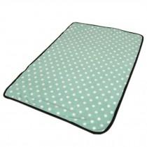 Super Soft Warm Washable Dog Cat Pet Bed Blanket-Light Green Dots