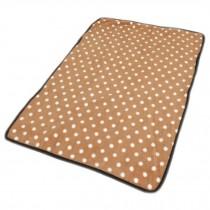 Super Soft Warm Washable Dog Cat Pet Bed Blanket-Light Brown Dots