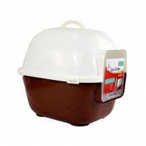 """High-quality  Indoor Training Pet Potty Cat litter Basin(19.5""""*16""""*16.5""""),BROWN"""