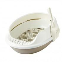 "Upgrade Version Indoor Training Pet Potty Cat litter Basin(19.5""*15""*7.8""),BROWN"