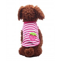 Cute Dog Clothes Fall And Winter Clothes Sweater Vest, Strawberry