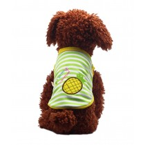 Cute Dog Clothes Fall And Winter Clothes Sweater Vest, Pineapple