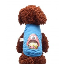 Cute Dog Clothes Fall And Winter Clothes Sweater Vest, Blue Cartoon