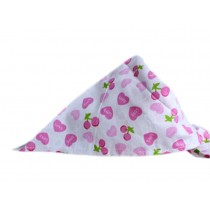2 Pieces of Fashionable Cute Pets Triangle Scarves/Headscarf, Pink