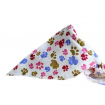 2 Pieces of Fashionable Cute Pets Triangle Scarves/Headscarf, Footprint