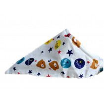 2 Pieces of Fashionable Cute Pets Triangle Scarves/Headscarf, Bear