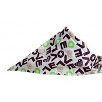 2 Pieces of Fashionable Cute Pets Triangle Scarves/Headscarf, Love
